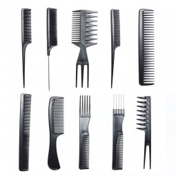 Beautyforever Hair Care Comb Anti Static Coarse Fine Toothed Tail Pick Combs Black Set For Wet Dry Curly And Straight Hair -T