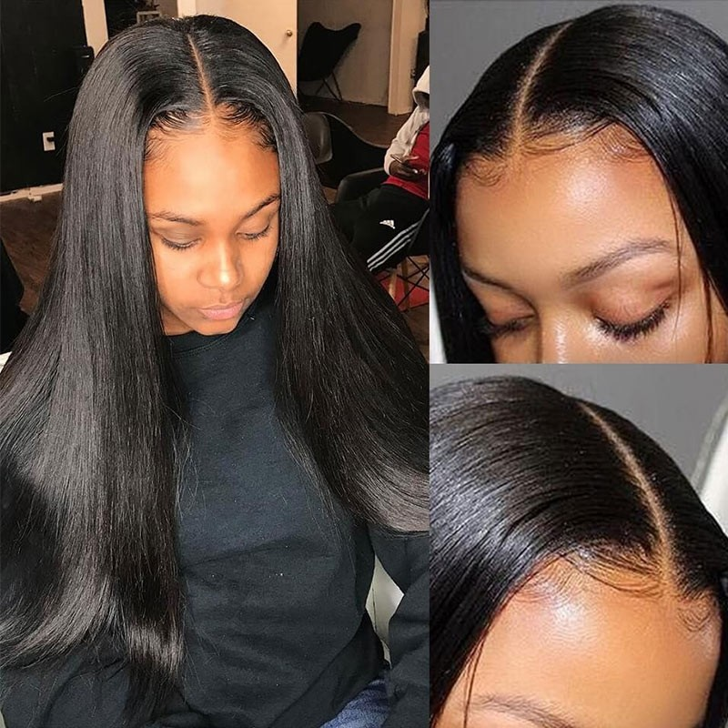 180% Density Straight Lace Front Wigs