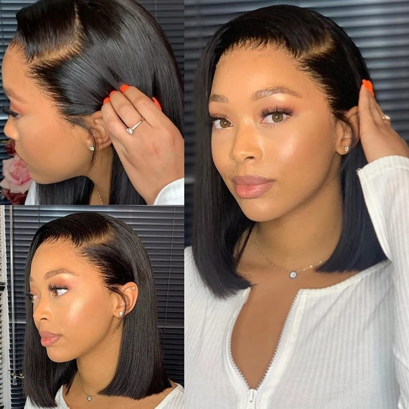 Short Bob Wigs With Baby Hair
