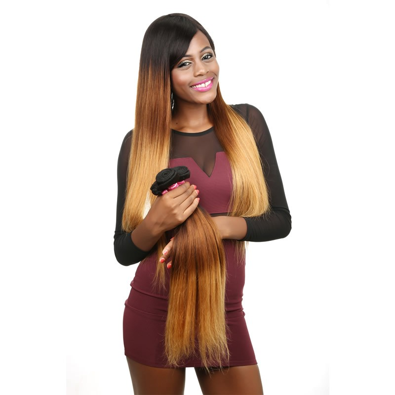 Beautyforever Brazilian Ombre Hair 3bundles Straight Ombre Virgin