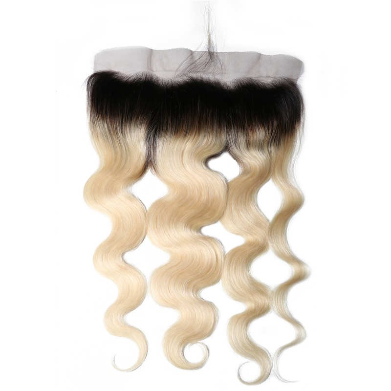 Real Hair Body Wave 1B/613 Color 13*4 Inch Lace Frontal 1 Piece