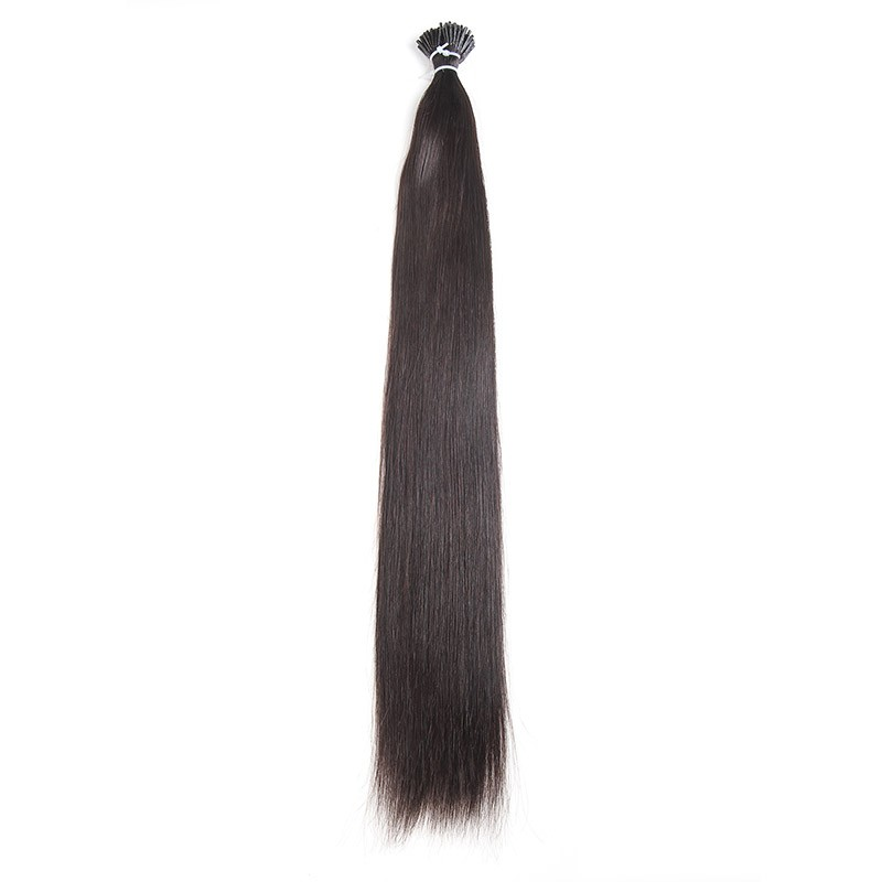 Beautyforever Brazilian I Tip Black Straight Remy Hair Extensions 18