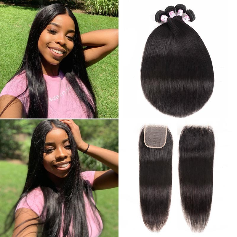 straight 3bundles with lace closure