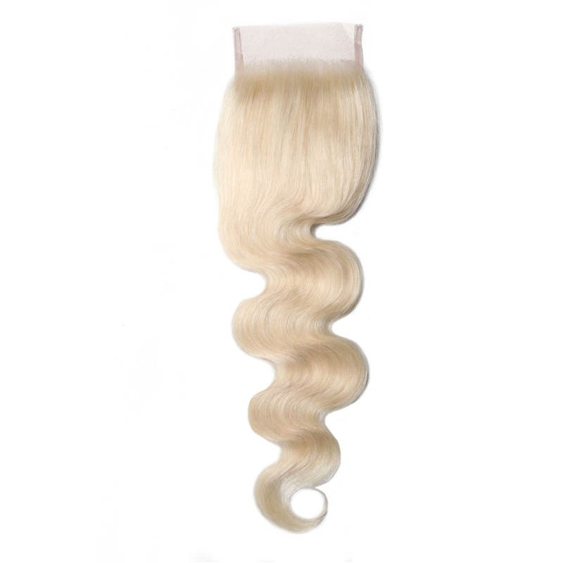 613 blonde 4*4 Body Wave Lace Closure Hair Piece Free Part