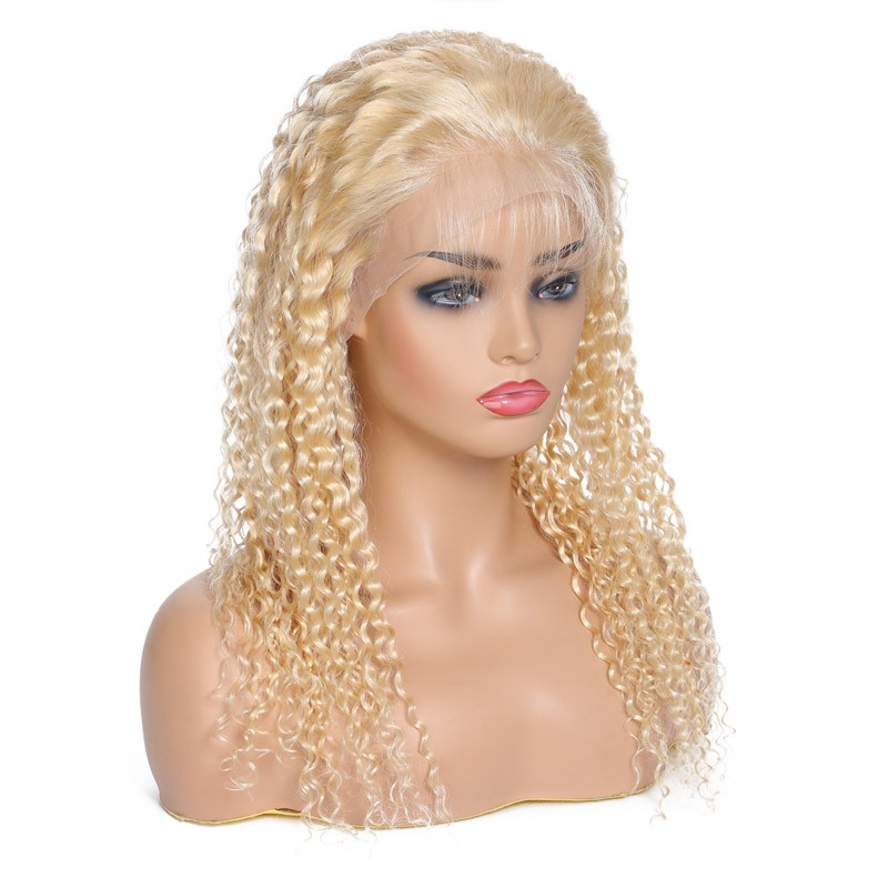 613 Jerry Curly Human Hair Lace Front Wigs