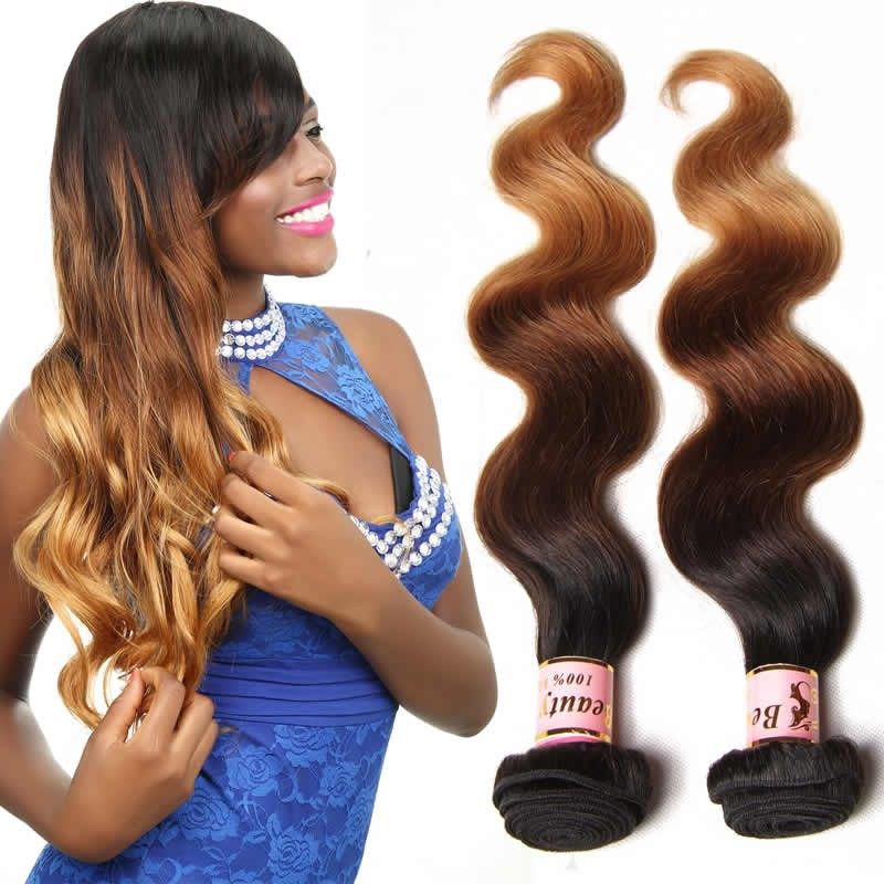 Beautyforever Ombre Malaysian Hair Weave Body Wave Wavy 4bundles