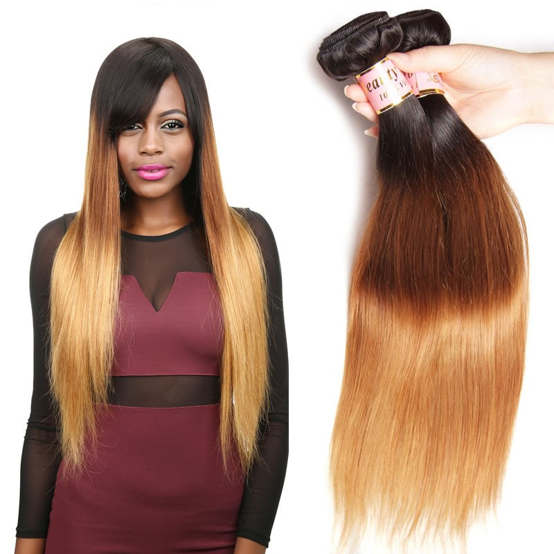 Beautyforever 3 Tone Ombre Straight Hair Weaves Indian