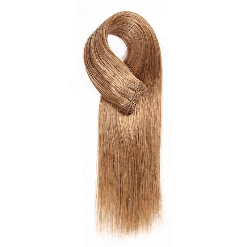 100g 12 Light Brown Colored Weave Brazilian Remy Human Hair