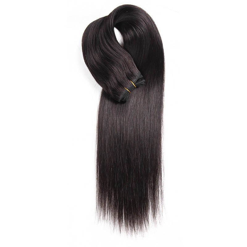Natural black colored weave