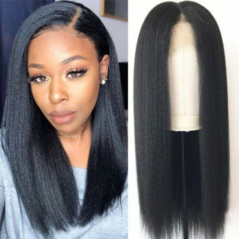 New Arrived 360 Lace Frontal Long Kinky Straight Human Hair Wigs