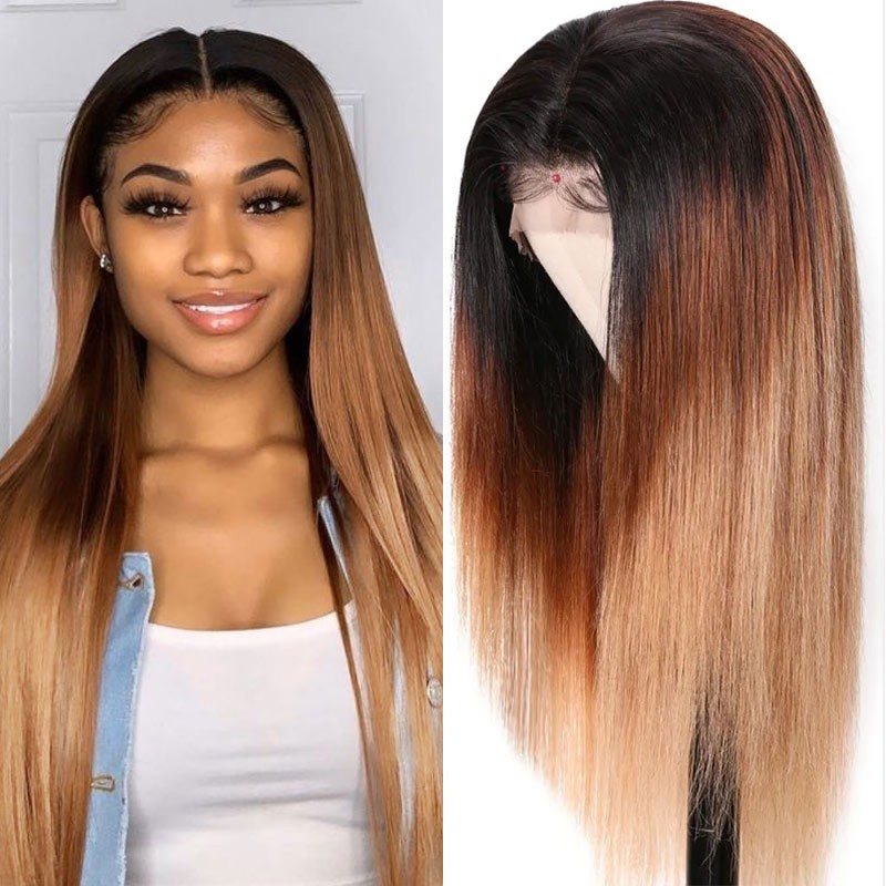Ombre Hair 13x4 Straight Lace Front Wigs