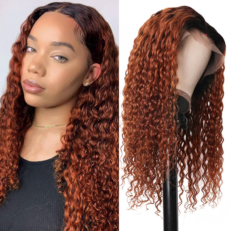 ombre jerry curly lace front wigs