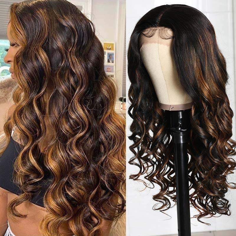 #FB30 Color Body Wave Lace Part Wig