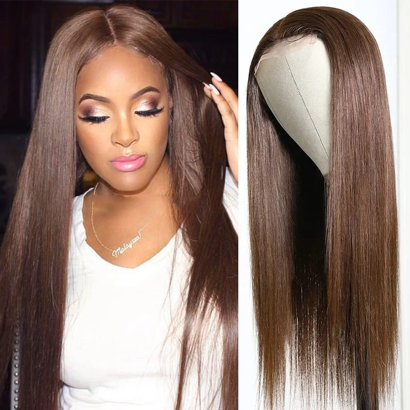 #4 Brown Sugar Straight Lace Wigs