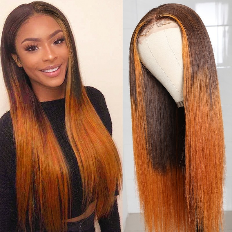 ombre hair lace closure wigs