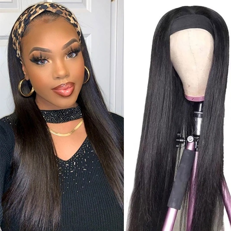 Long Straight Hair Headband Wig