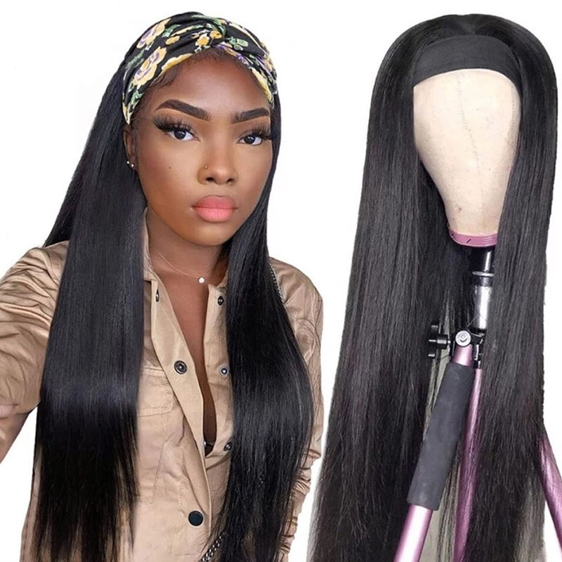 Long Straight Hair Headband Wigs