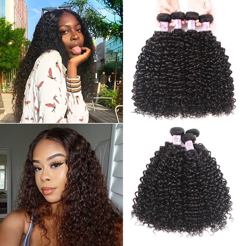 Brazilian Jerry Curly Hair 4Bundles