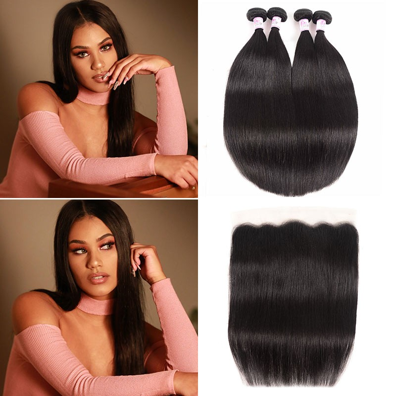Straight Hair Lace Frontal Closure