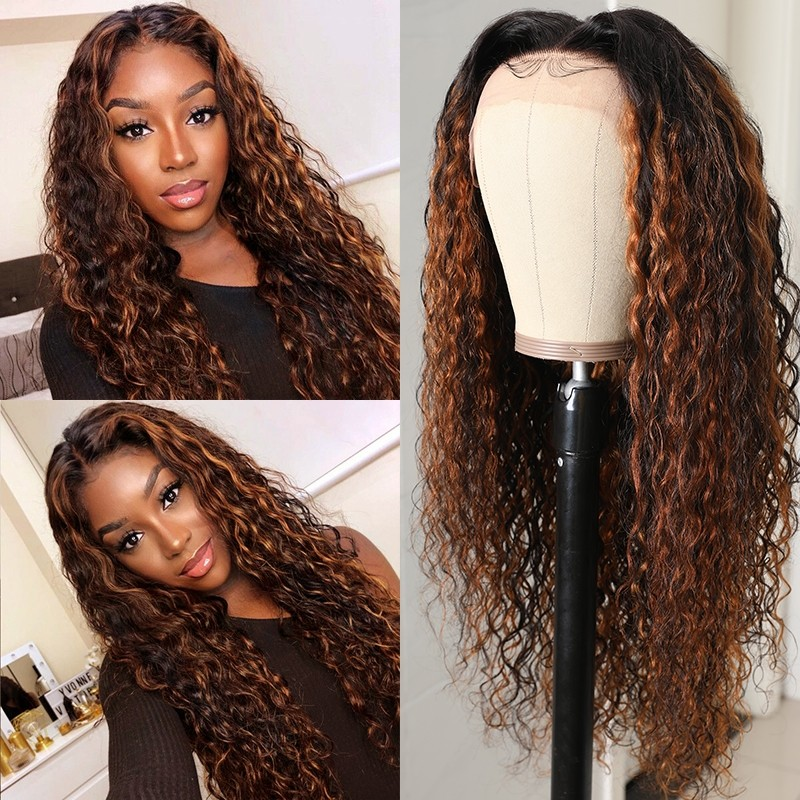 Brown Hair Balayage 13x4 Lace Front Wigs