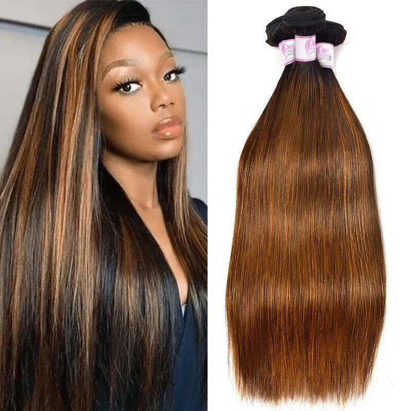 #FB30 Colored Straight Hair Weave