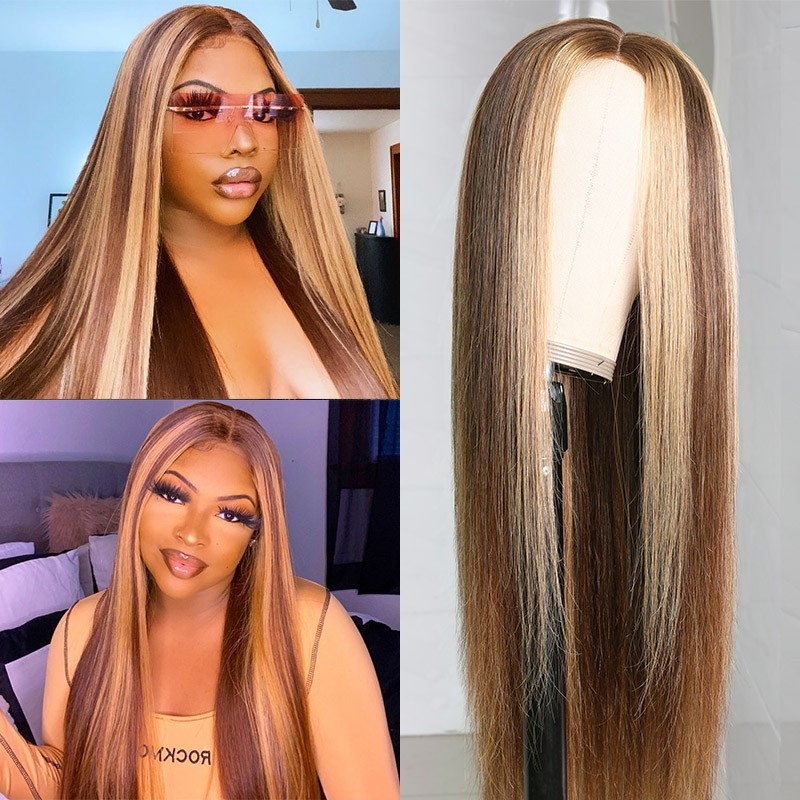 Blonde Highlight Piano Color Wig