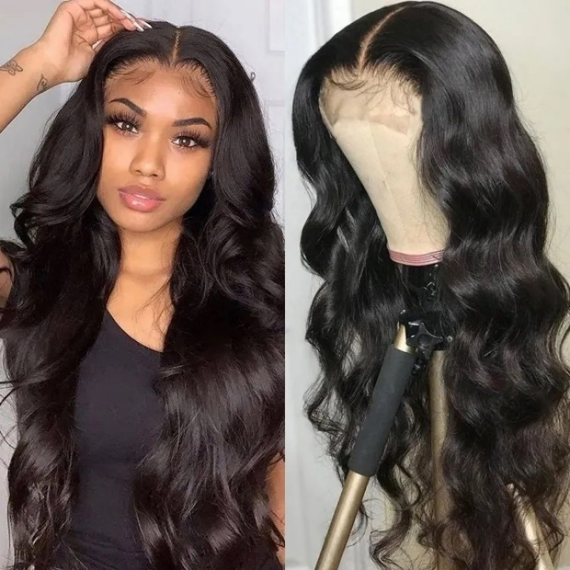 Body Wave Hair Pre-plucked Lace Part Wig