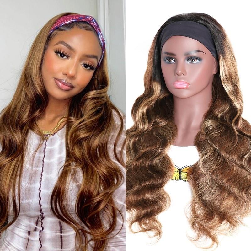 Blonde Ombre Color Headband Wig