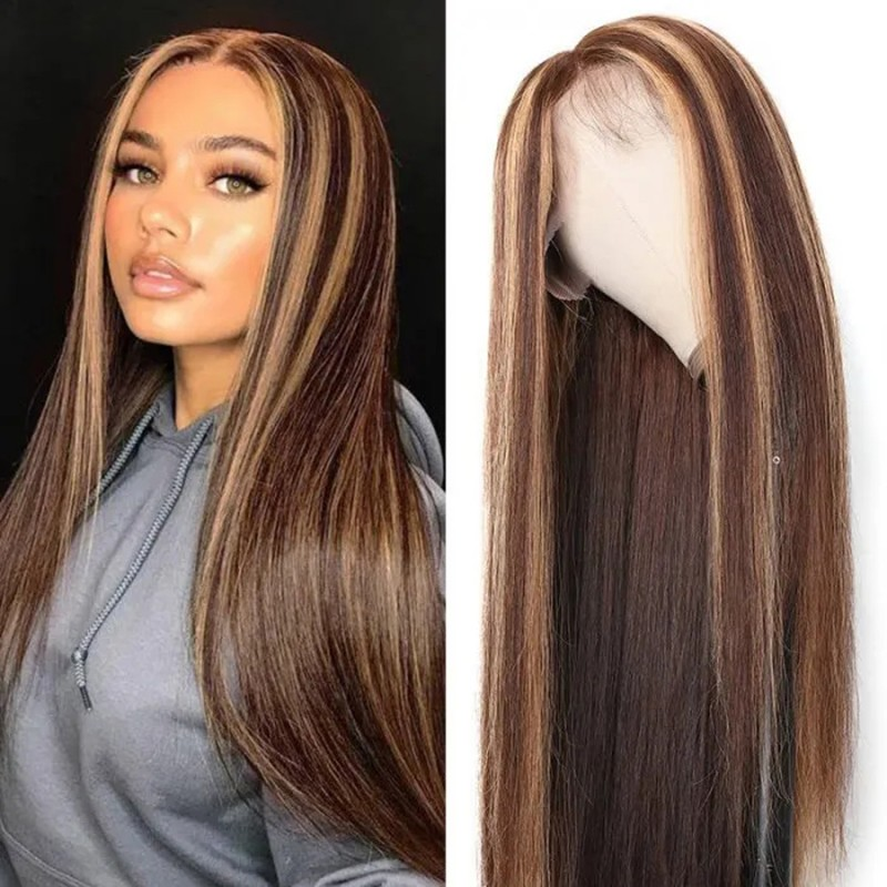 Blonde Highlight Wig 13x4 Straight Lace Front  Wigs