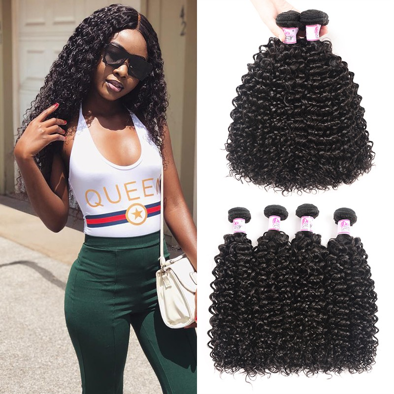Jerry Curl Peruvian Hair Weave 4 Bundles