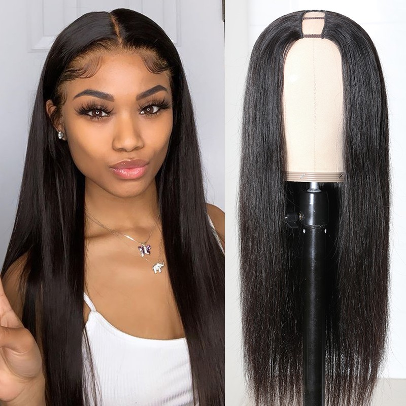 Long Straight Hair U Part Wig