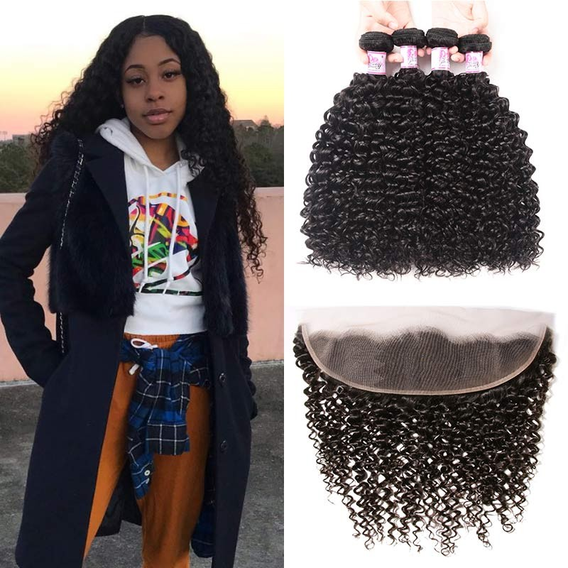 4Bundles With 13x4 HD Lace Frontal