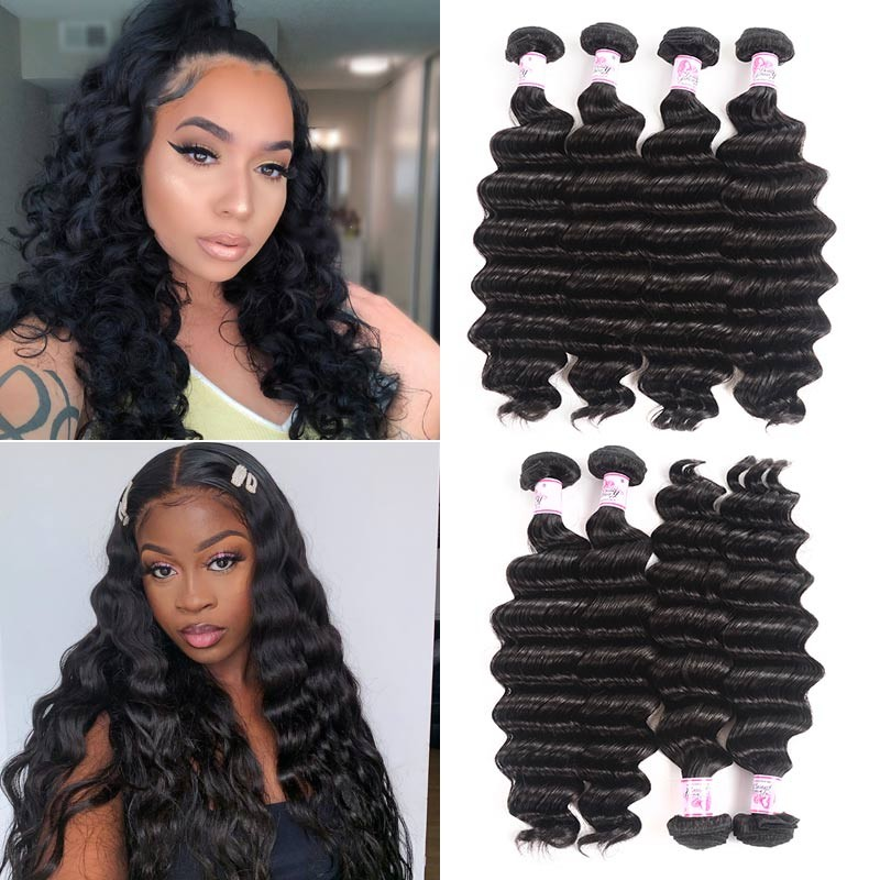 loose deep hair bundles