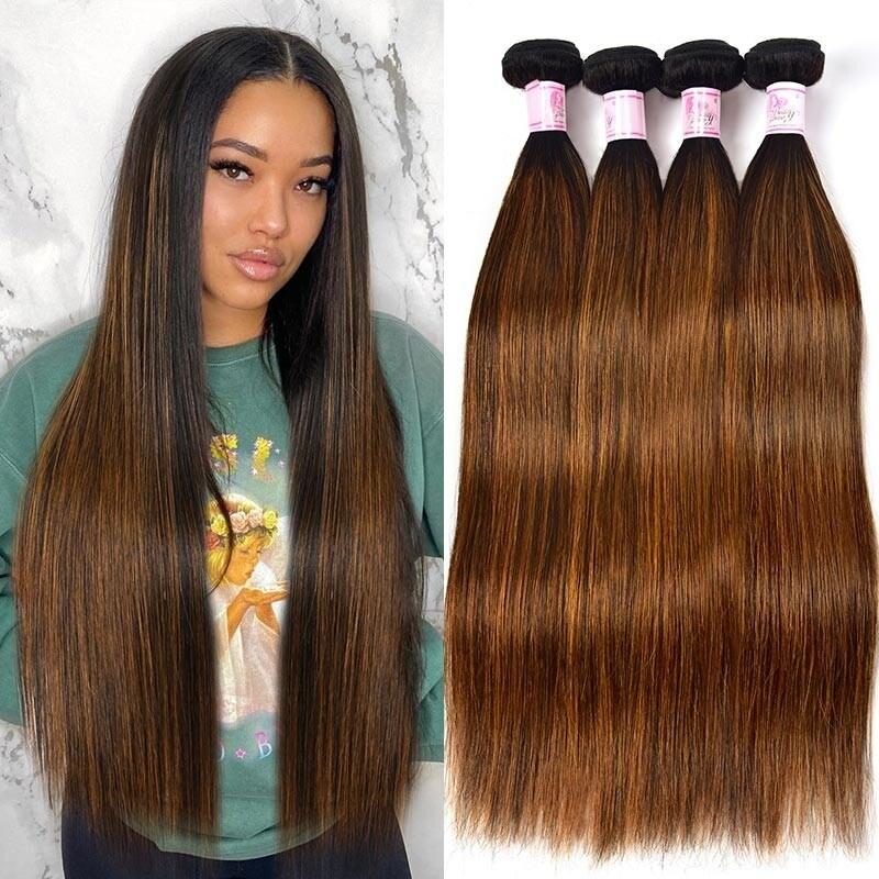 #FB30 Ombre Balayage Human Hair Weave