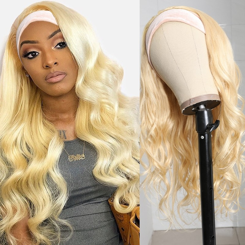 Natural Wave Velvet Headband Wigs