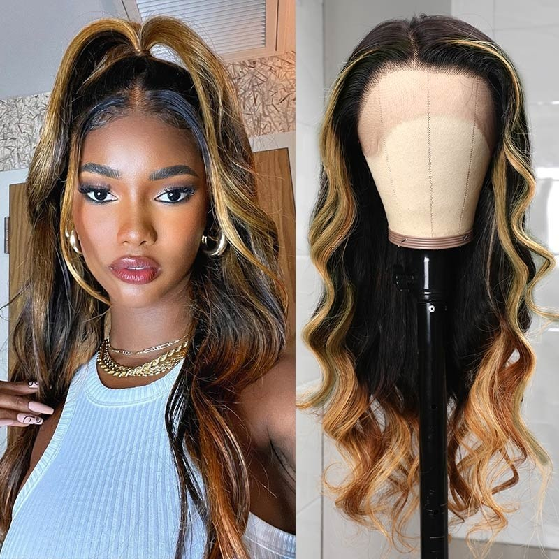 Highlights Color 13x4 Lace Front Wigs