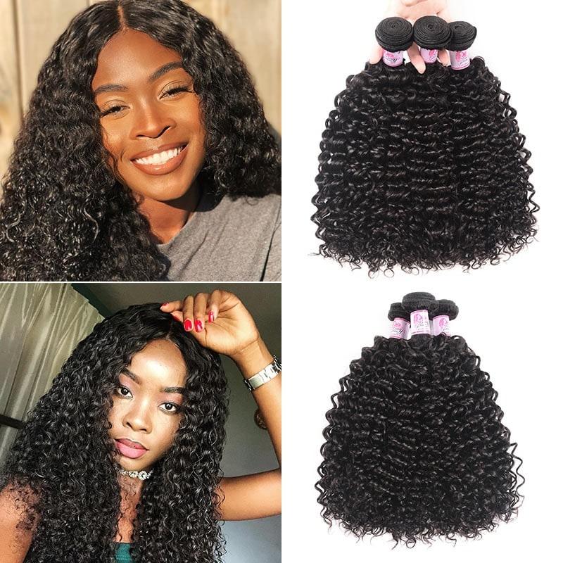 Peruvian Virgin Remy Jerry Curly Hair 3Bundles