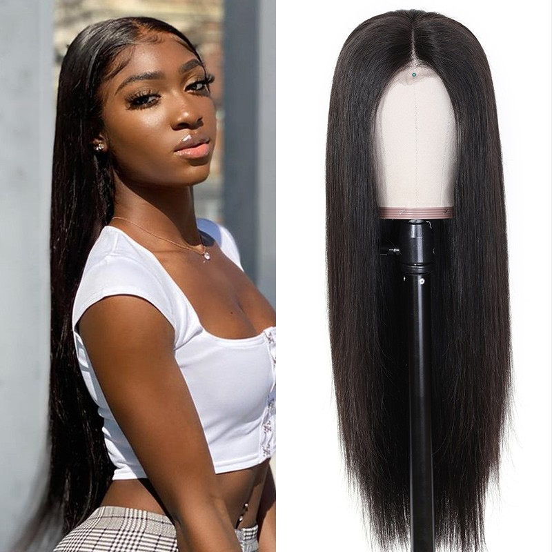 long straight human hair wigs