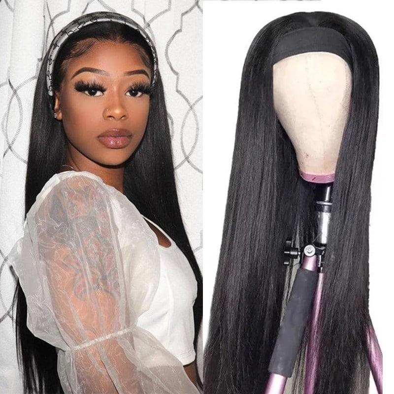 Long Straight Hair Headband Wigs