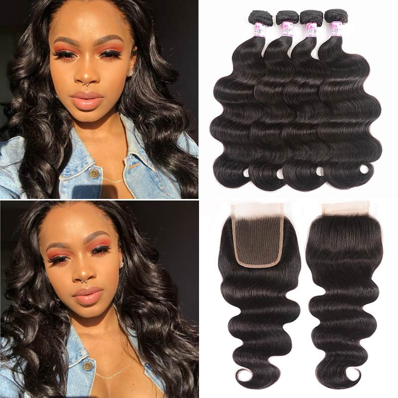 4Bundles With Lace Closure Body Wave