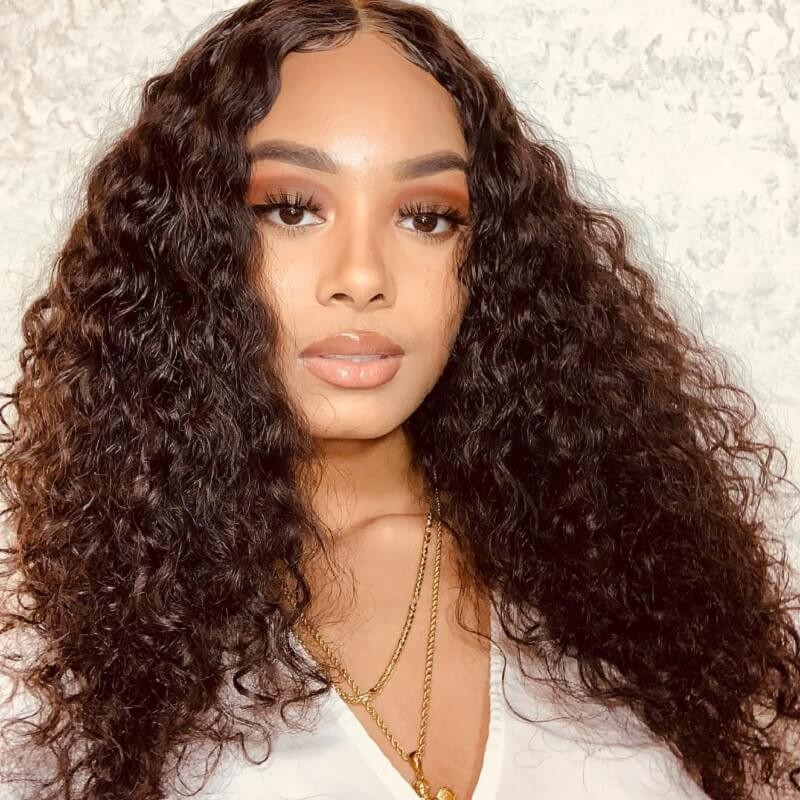 180 Density Jerry Curly Lace Front Wigs