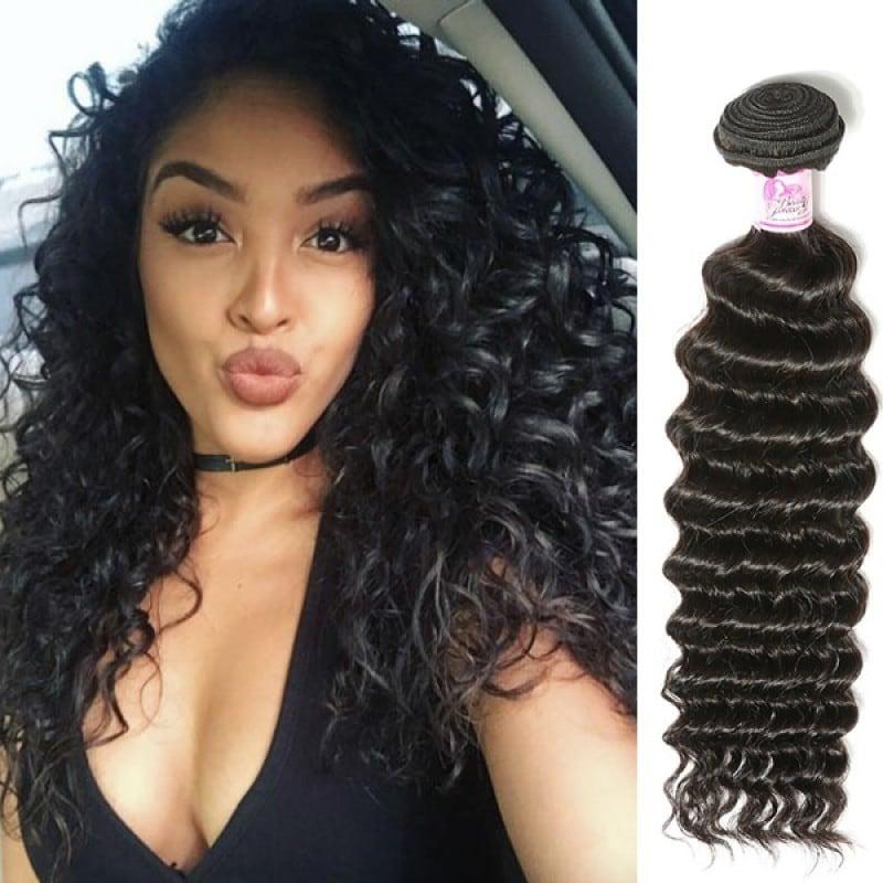 Beautyforever Unprocessed Peruvian Deep Wave Hair Deep Wave Hairstyles Remy Hair 3 Bundles