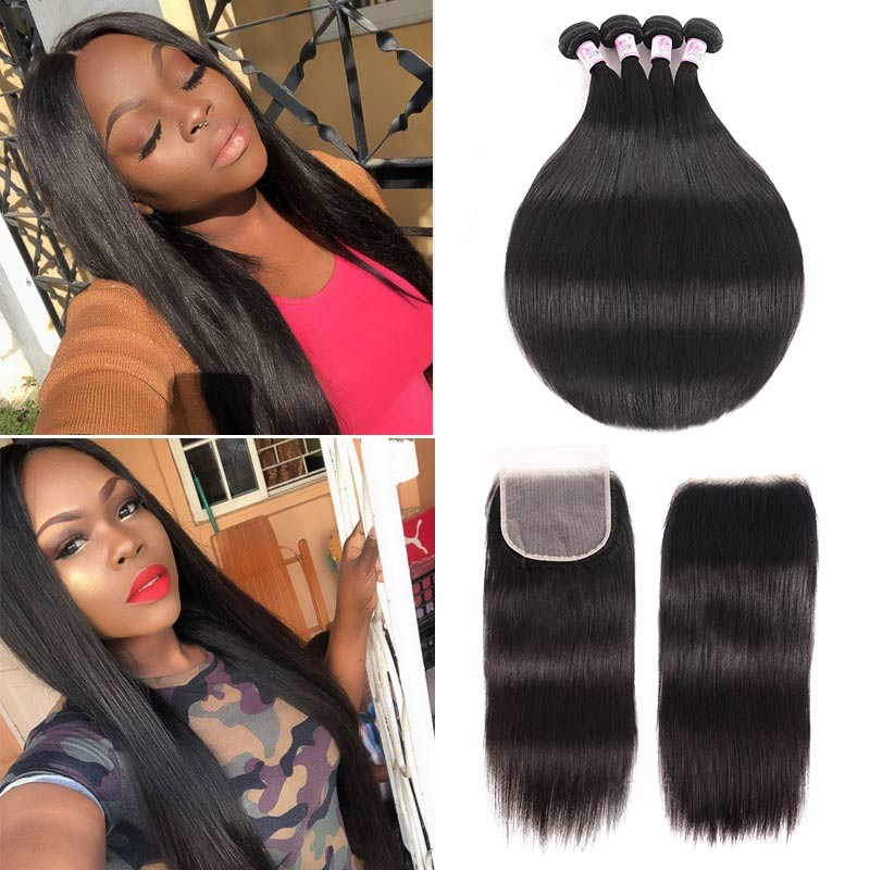 straight bundles with lace closure