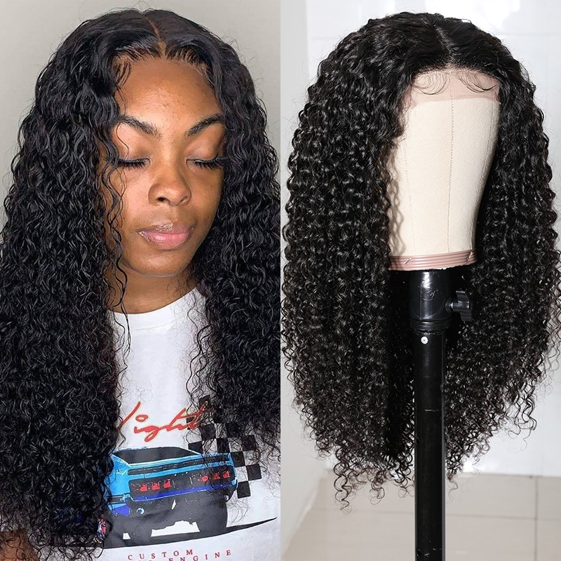 Jerry Curly Hair Medium Part Lace Part Wig