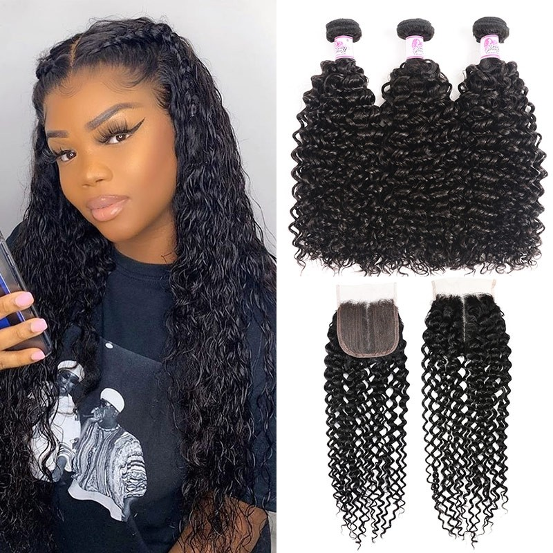 Jerry Curly T Part Lace Closure