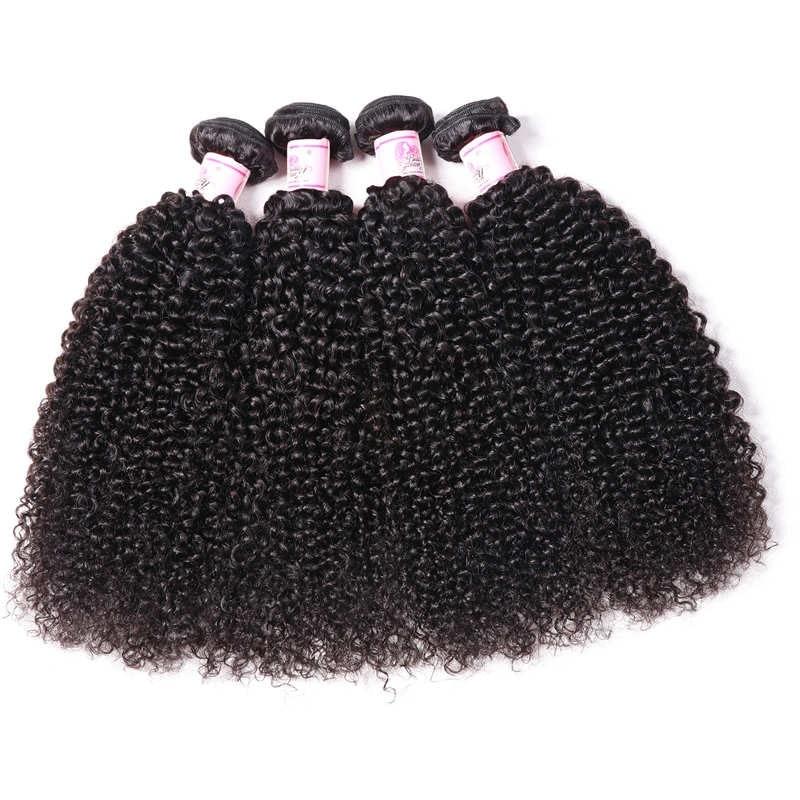 Beautyforever Brazilian Kinky Curly Hair 4 Bundles Deals 100% Human Hair