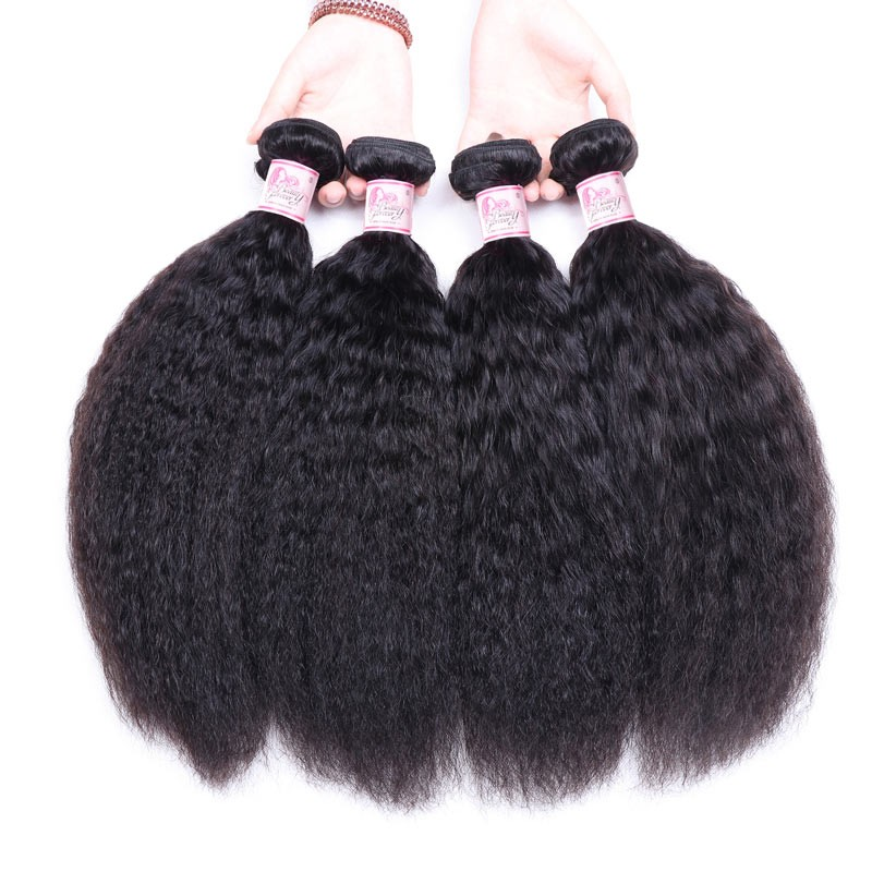 Kinky Straight Hair Weave 4 Bundles