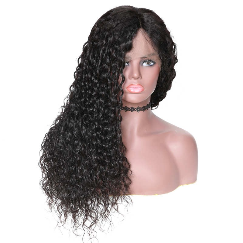 360 Lace Frontal Long Wate Wave 150% Density Human Hair Wigs On Sale