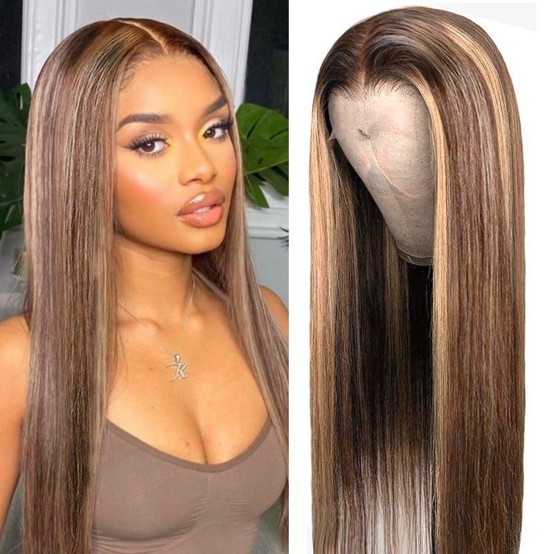 Long Straight Hair Lace Part Wig Human Hair