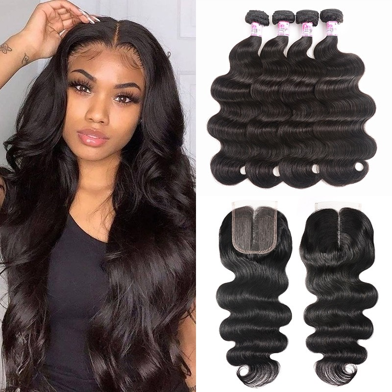 Body Wave Hair T Part Lace Closure